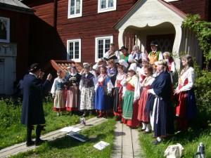 Folkpust, Kedjans folklorekör på Skansen